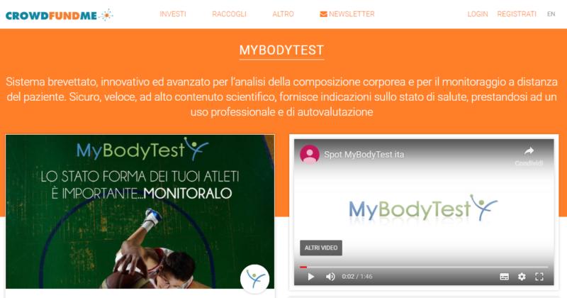 Al via la campagna di Crowdfuding di MyBodyTest